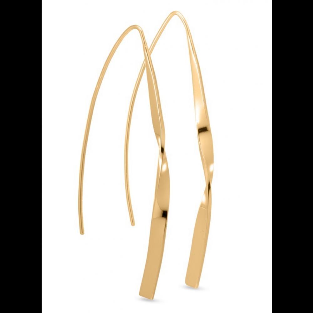 Aflange øreringe - guld