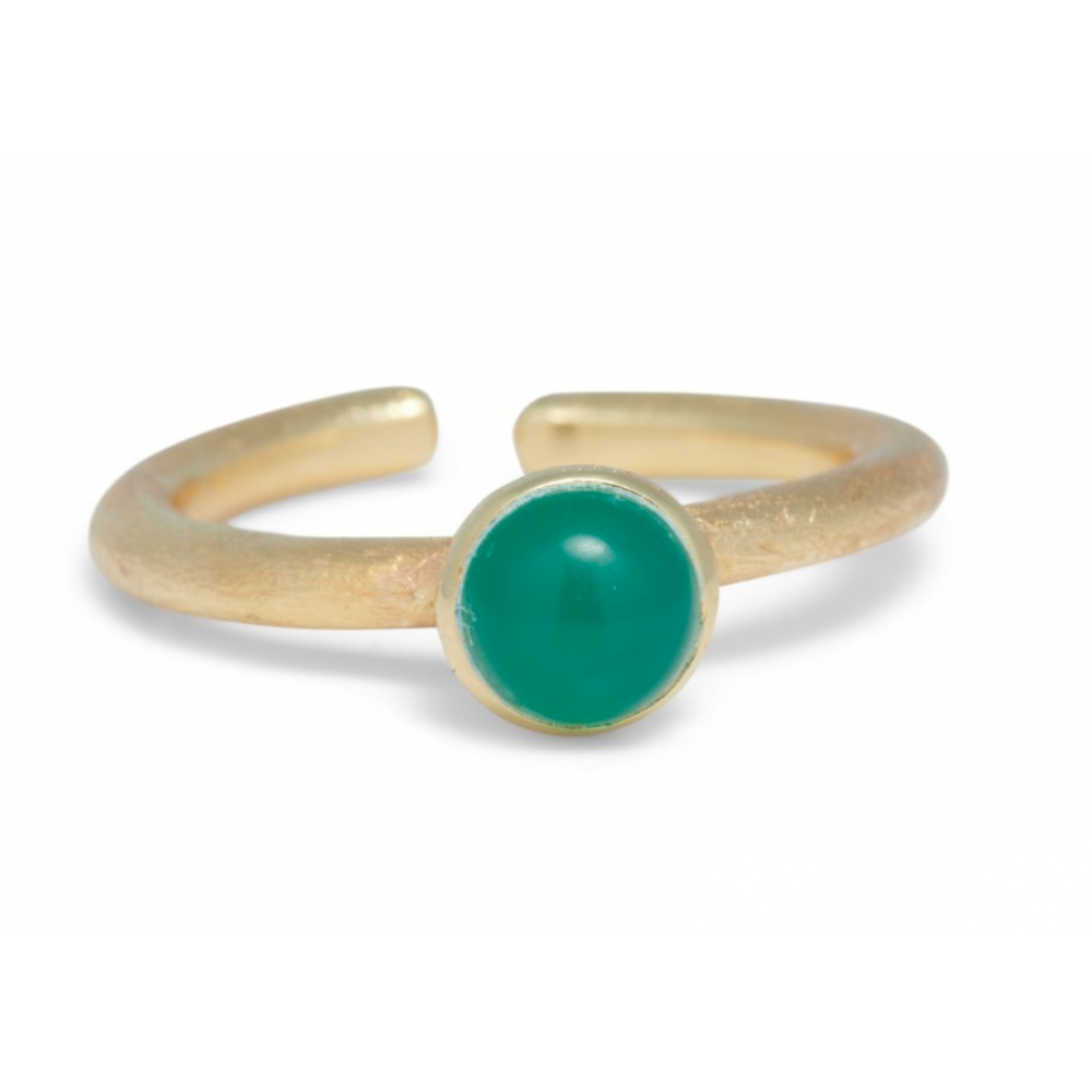 Ring med sten - green