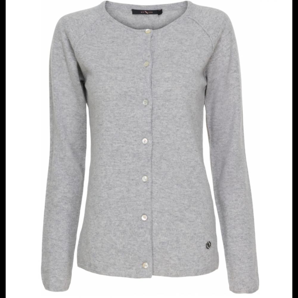 Cashmere pullover med knapper