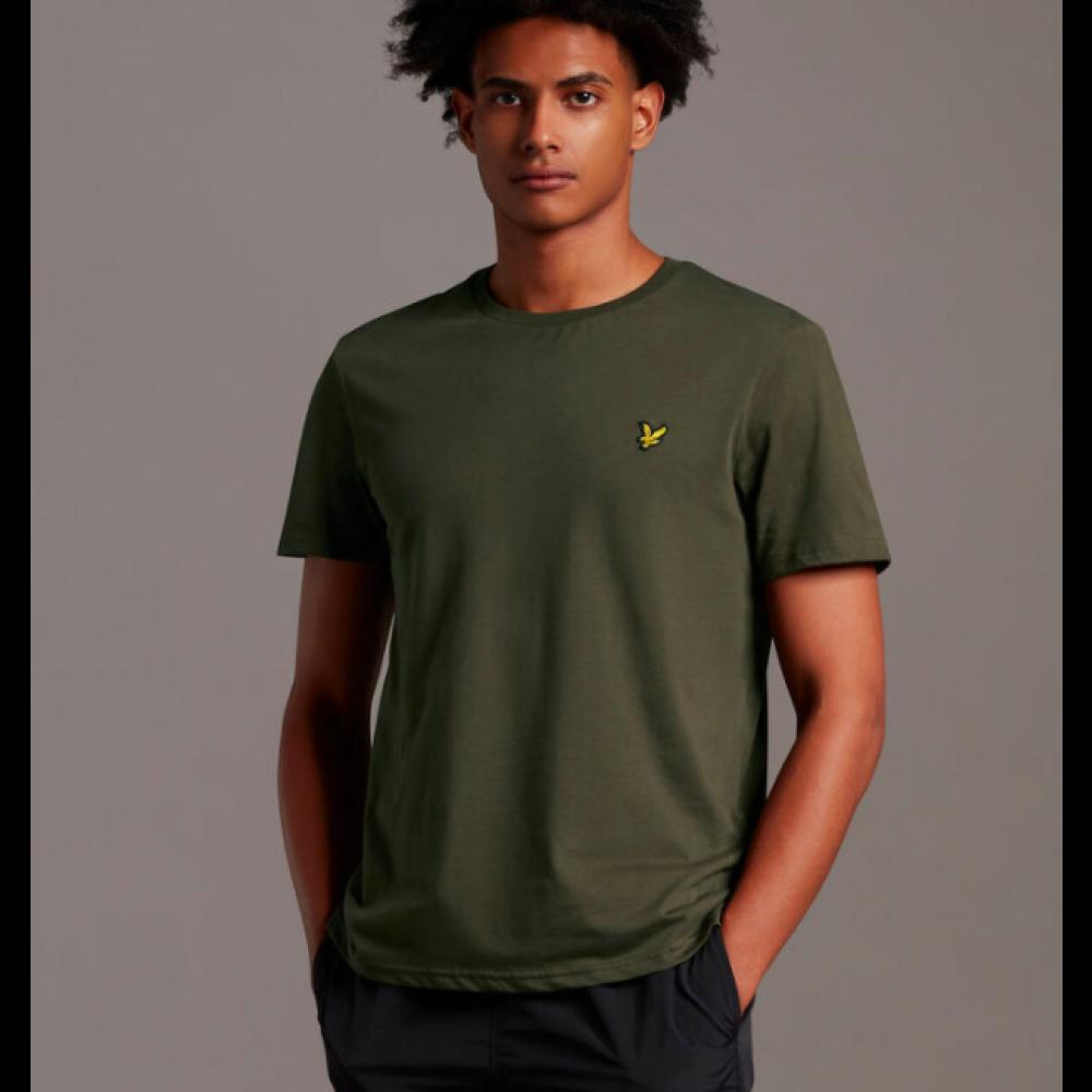 Crew neck t-shirt - trek green
