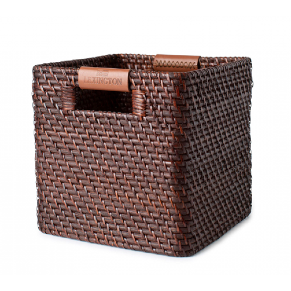 Medium Basket with Leather Detail