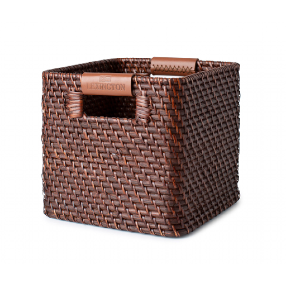 Small Basket with Leather Detail