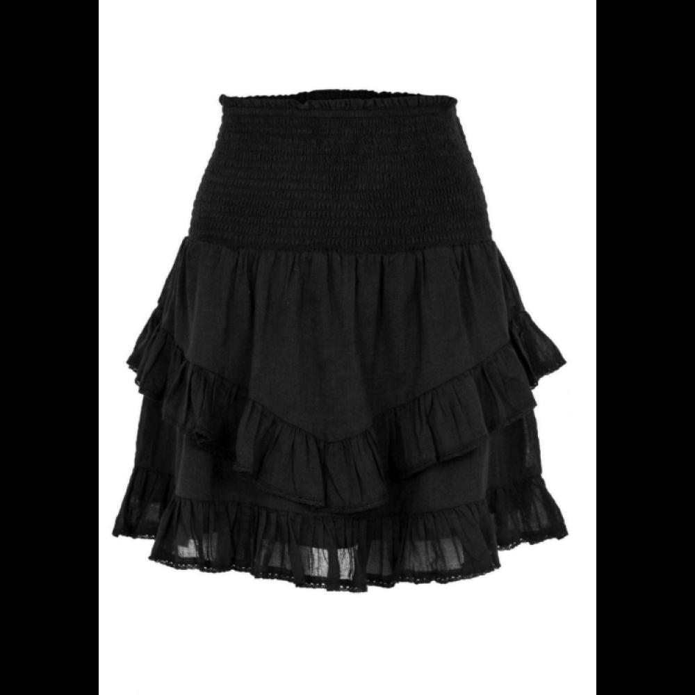 Line solid skirt - black