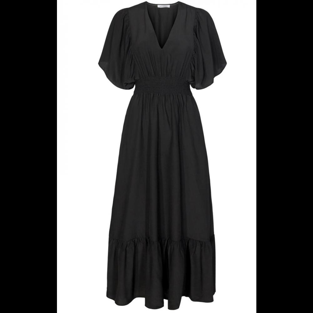 Samia sun smock dress - black