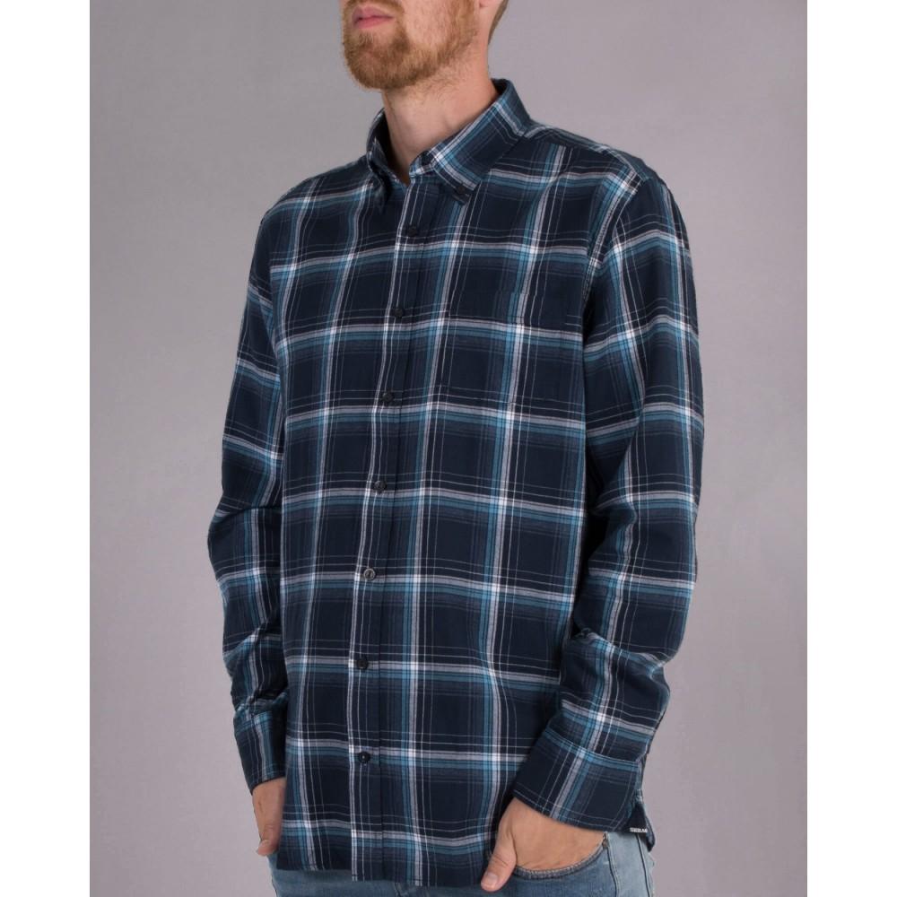 Checked Herringbone shirt - Navy/Blue