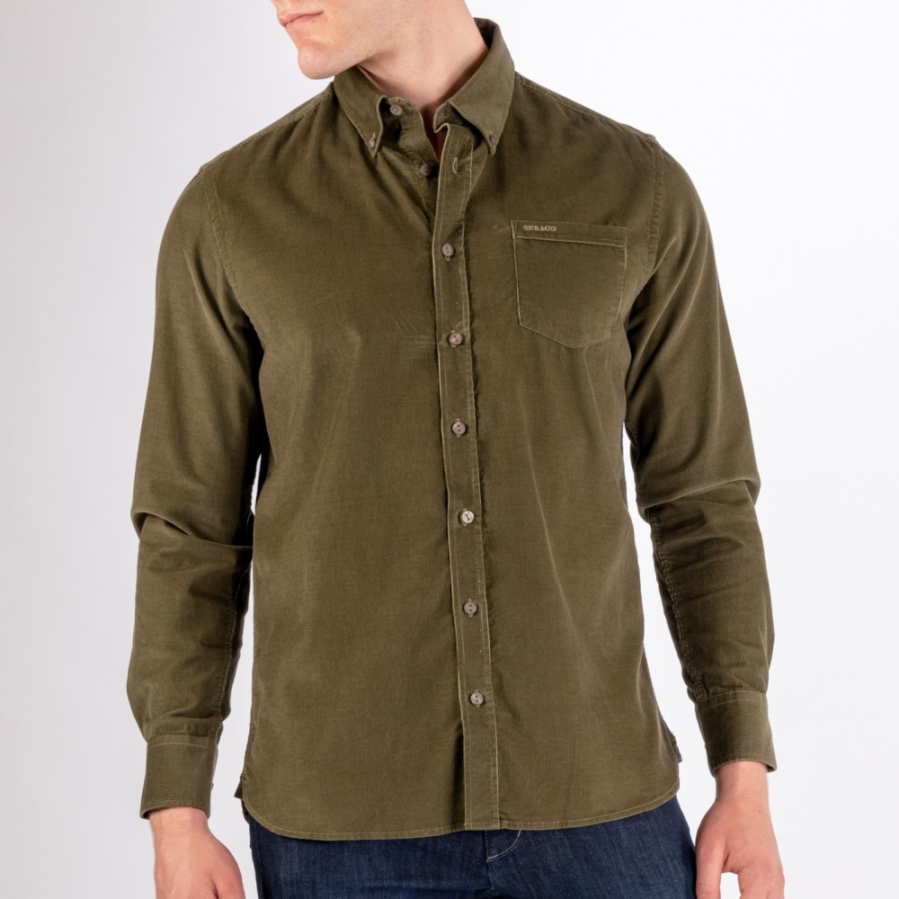 Cord Pocket Shirt Utility, Green