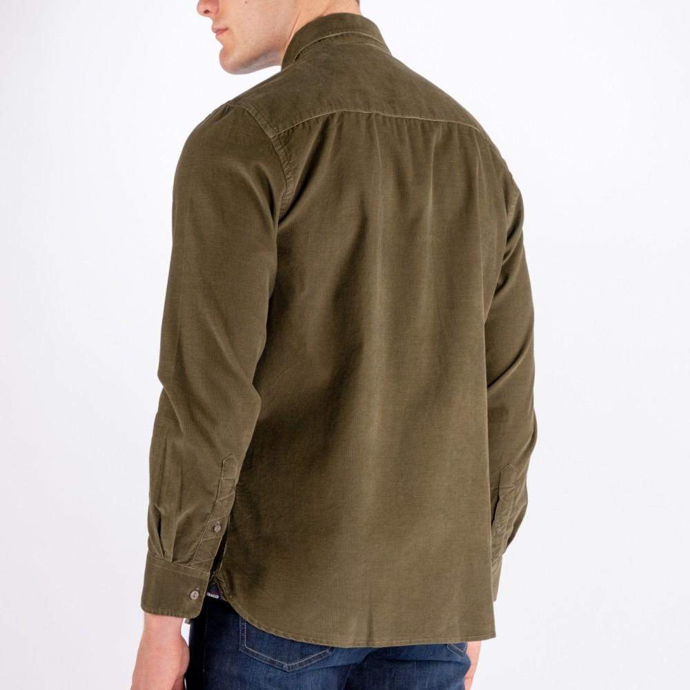 Cord Pocket Shirt Utility, Green-01