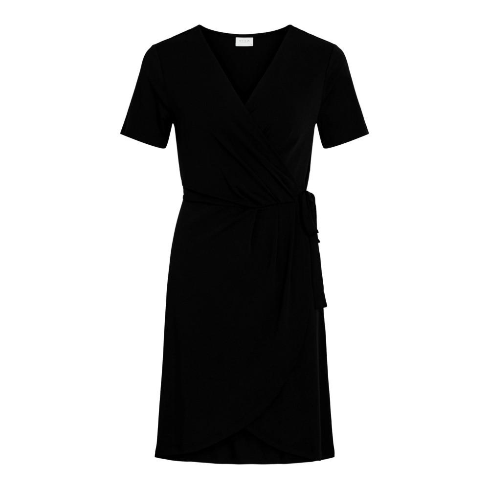 Vinayeli S/S knee wrap dress - black