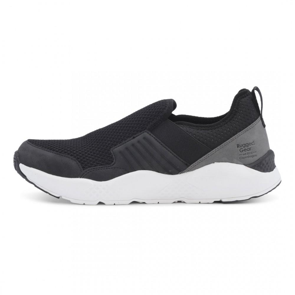 Light run loafer black