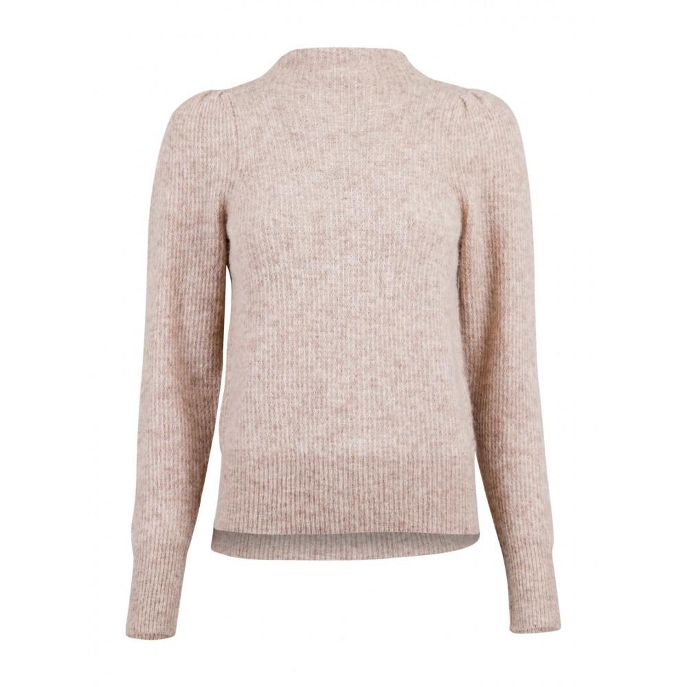 Marlia knit blouse, Beige melange