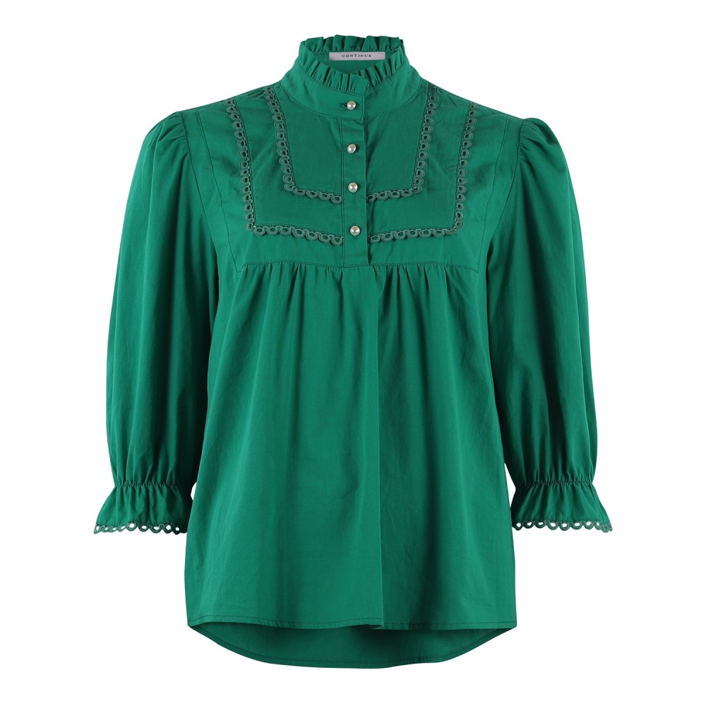 Isabella 3/4 sleeve - Grass Green