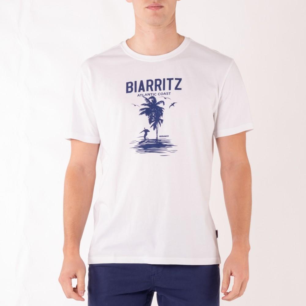 Biarritz tee - white