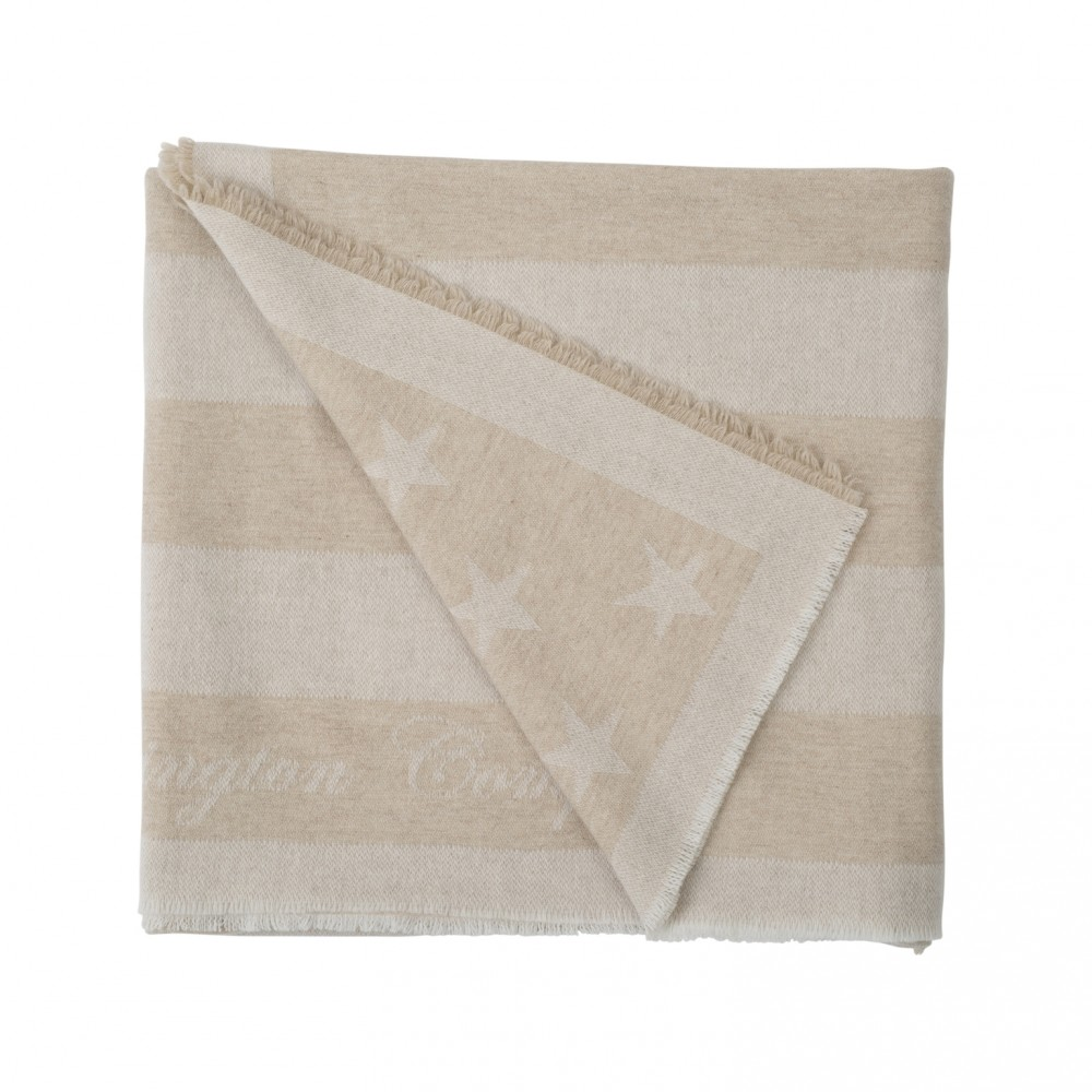 Wool Flag Throw Beige