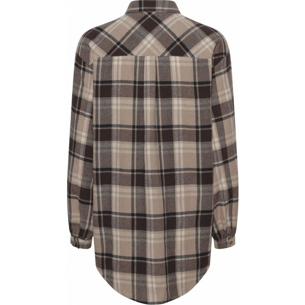 Gila Check Shirt Brown-01