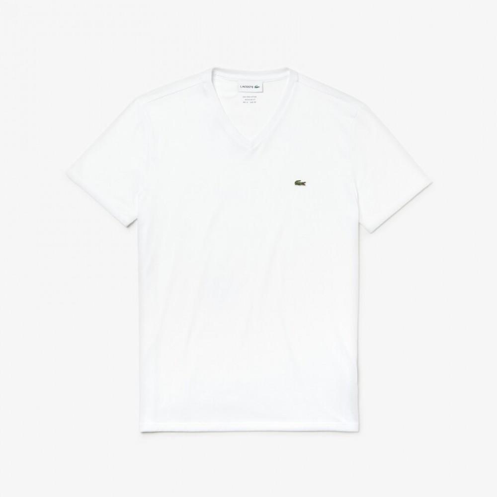 Lacoste 3 C-neck Slim T-shirts - white