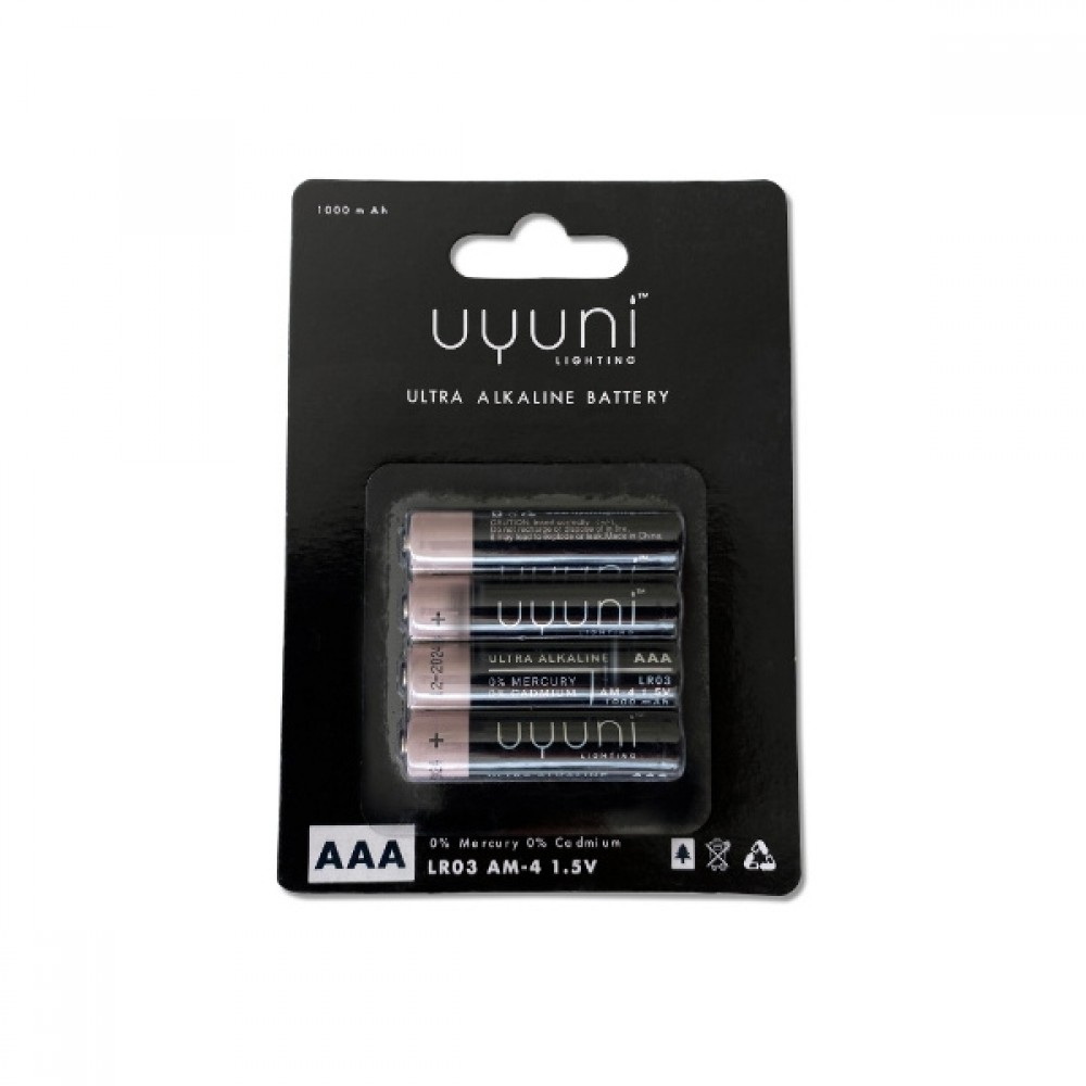 Batteries AAA, 1,5V, 1000mAh – 4 pack