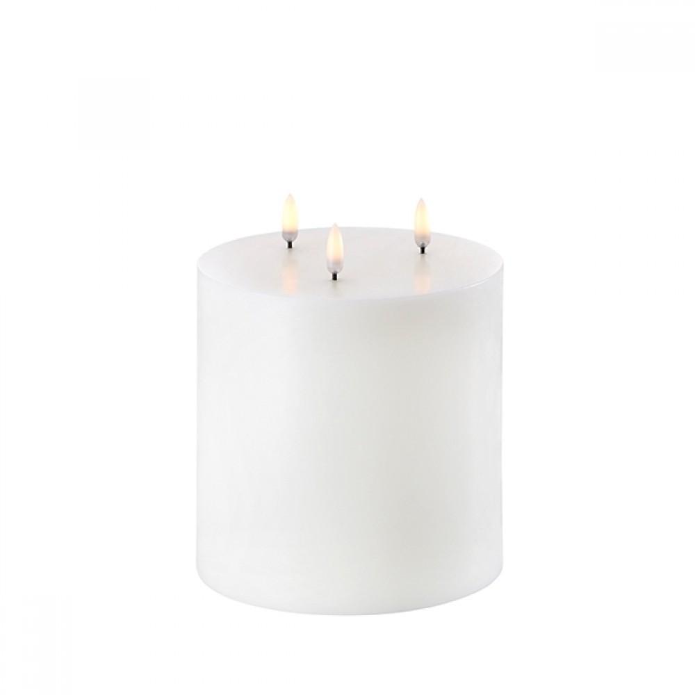 Triple Flame Pillar Candle, 15 x 15 cm
