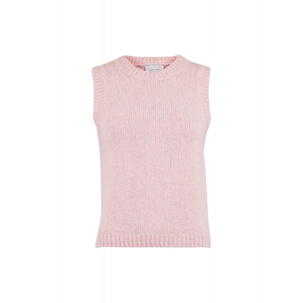 Franko knit waistcoat - powder