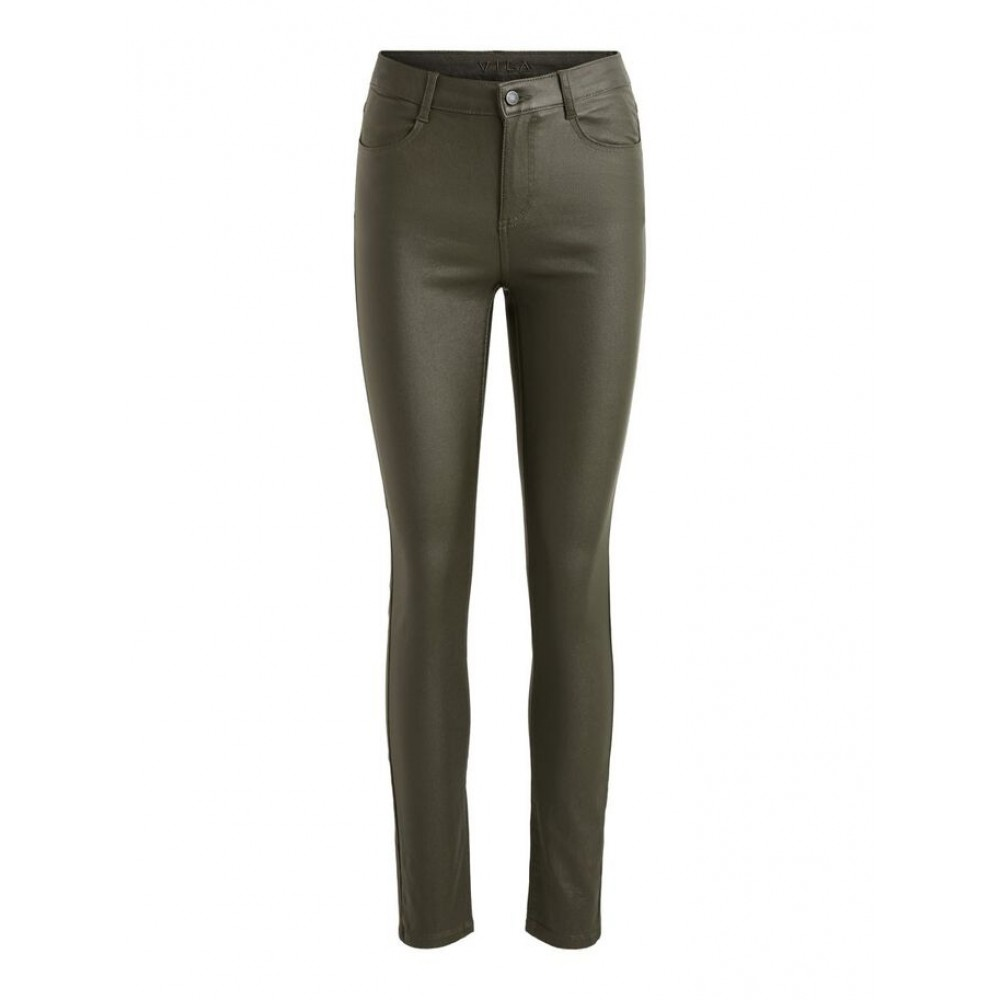 Coated Skinny Fit Jeans, Forest Night