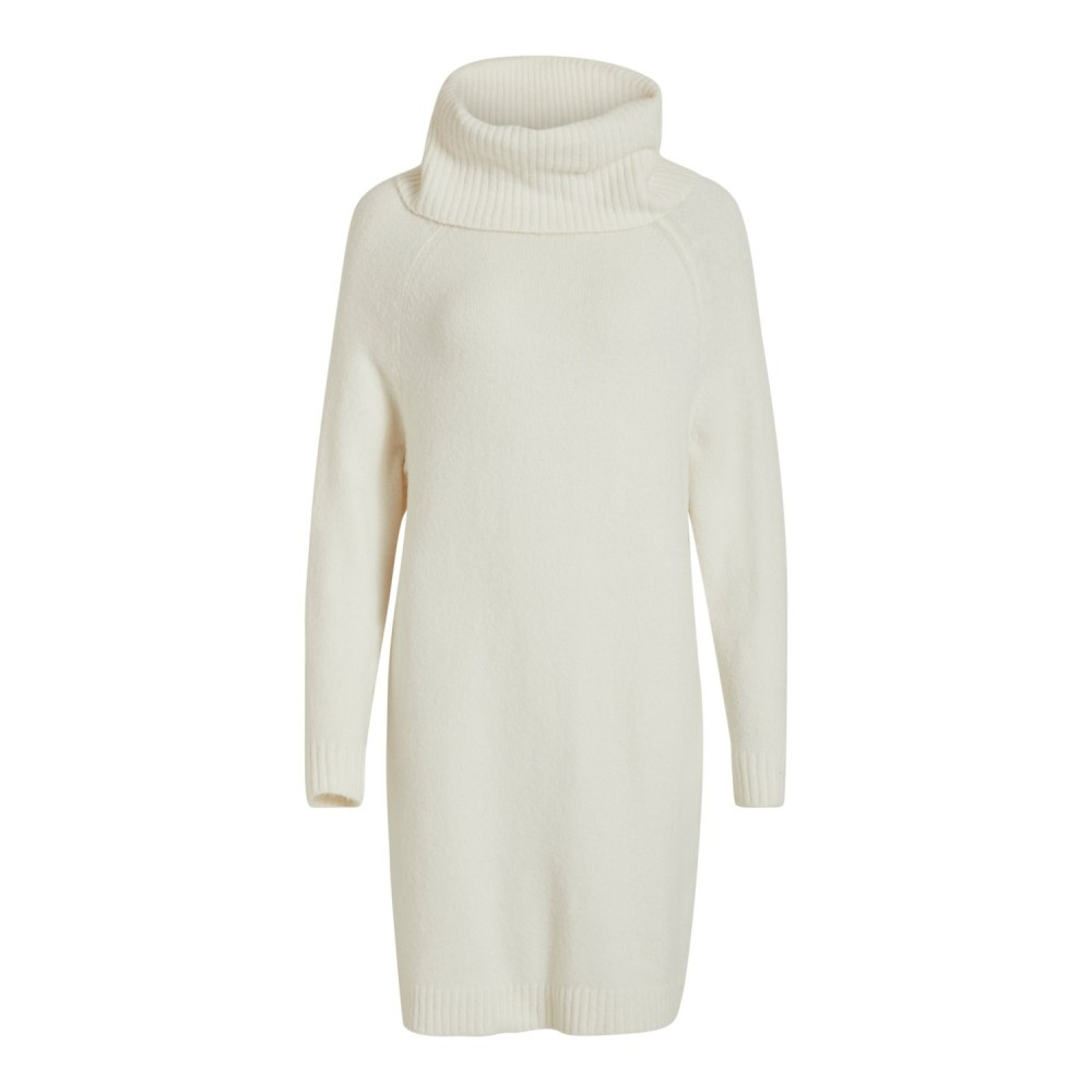 Cowlneck L/S Dress, whisper white