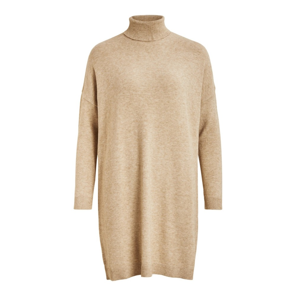 Viril Rollneck L/S Knit Tunic, Natural Melange