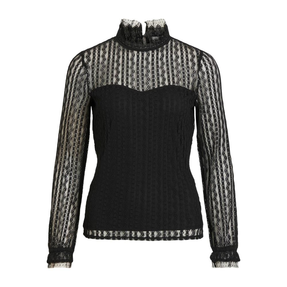 Vivesra L/S Lace Top, Black