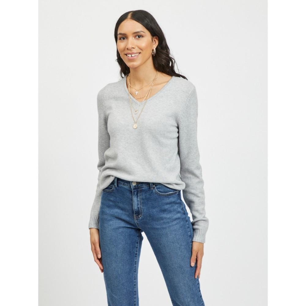 Viril V-neck knit - Light Grey