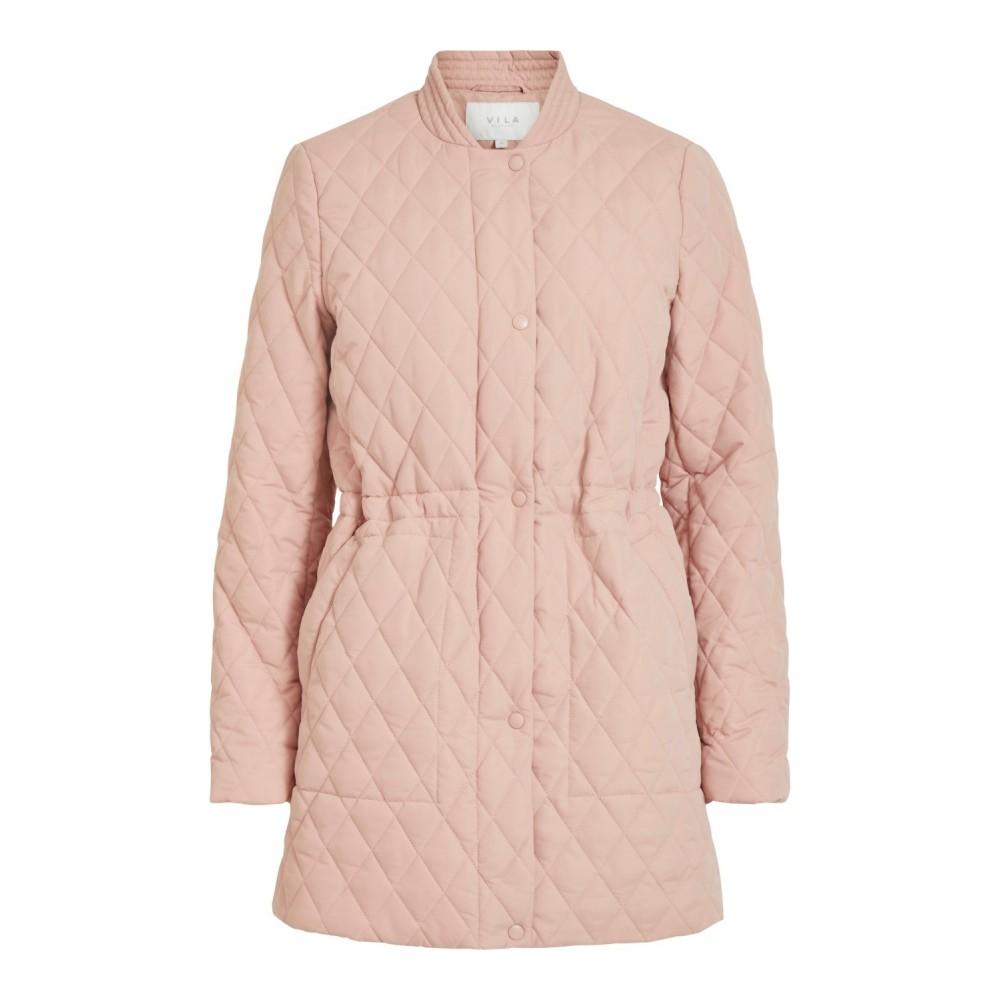 Vijaxie Quilted Jacket, misty rose