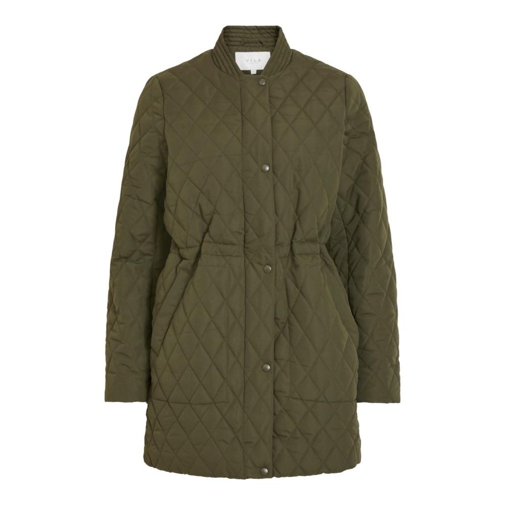 Vijaxie Quilted Jacket, forest night