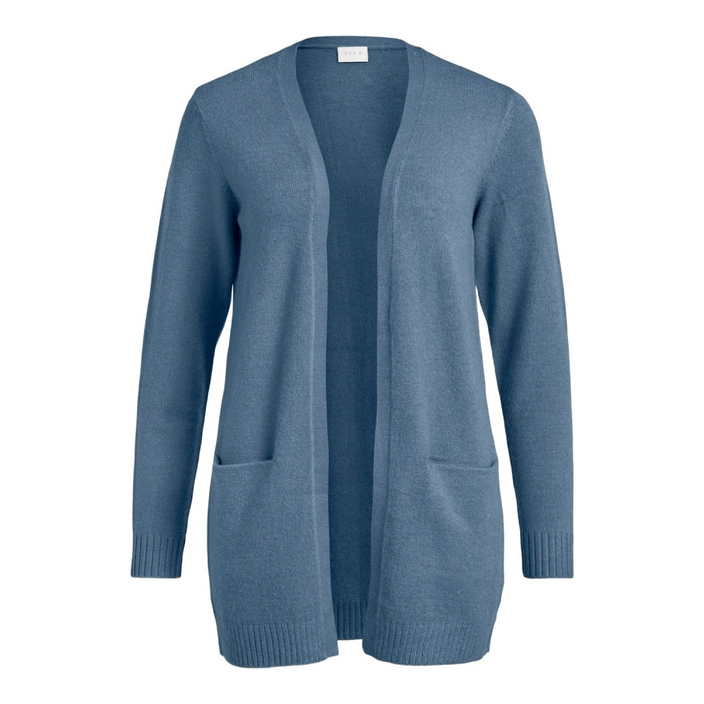 Viril open L/S knit cardigan - captains blue