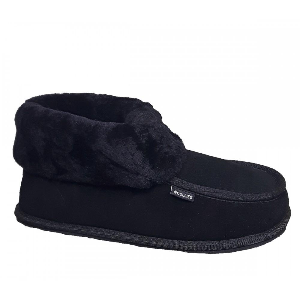 Women's Woollies Suede Classico, black