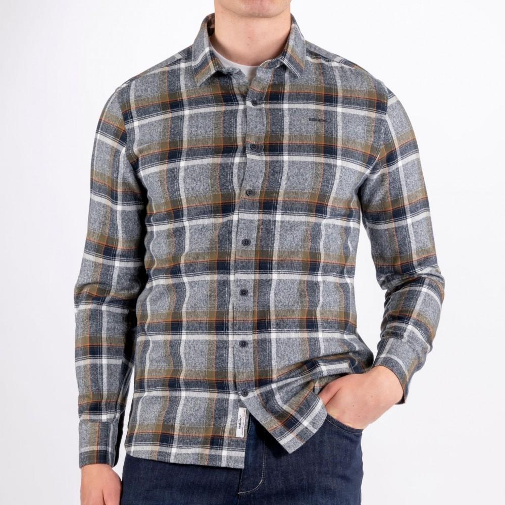 Sebago - Twisted Yam Checked Shirt Navy Green