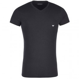V Neck T-shirt S/sleeve, black-20