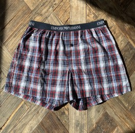 Woven Cotton Boxershorts, blue/red checked-20