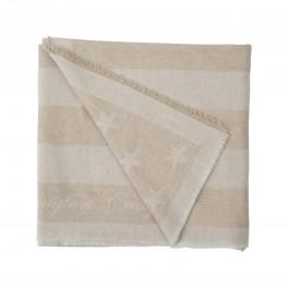 Wool Flag Throw Beige-20