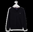 Cotton Wool V-neck, navy