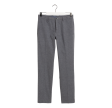 Slim Herringbone bukser, charcoal melange
