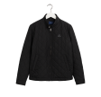 Quilted wind cheater - black