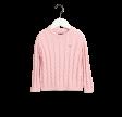 Cotten Cable Crew striktrøje, pink