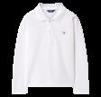 The Original Pique LS Rugger polo, white