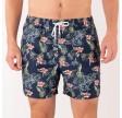 Flower swim shorts - navy