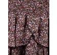 Carin flower twirl skirt - black