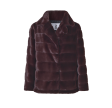 Filippa Faux Fur Jacket, Bordeaux
