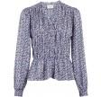 Ora multi graphic blouse - light blue