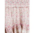 Marna peony flower skirt - off white