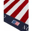Graphic cotton velour beach towel - red/white