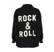 Rock & Roll Embossed Denim Oversize Jacket