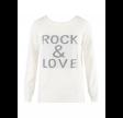 Rock & Love Slogan Ribbed Jumper White