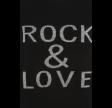 Rock & Love Slogan Ribbed Jumper