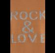 Rock & Love Slogan Ribbed Jumper Brown